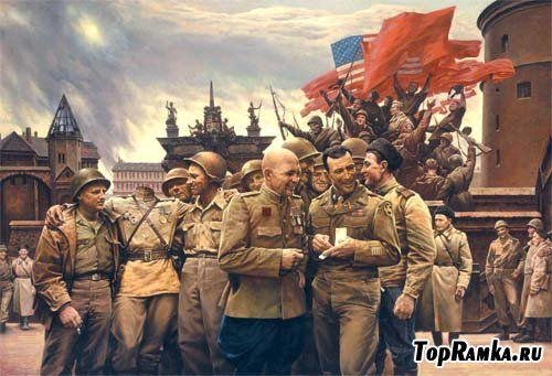 Мужской шаблон - победа с союзными войсками
