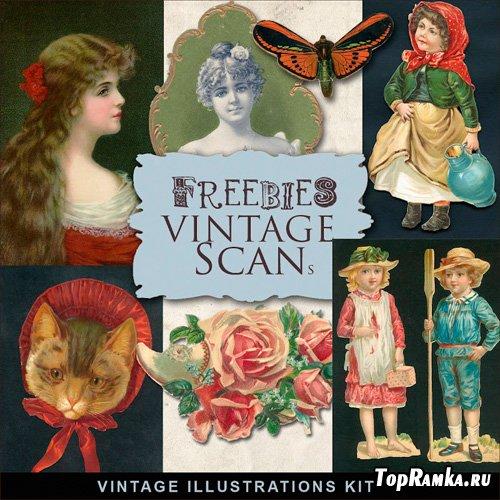 Scrap-kit - Vintage Illustrations