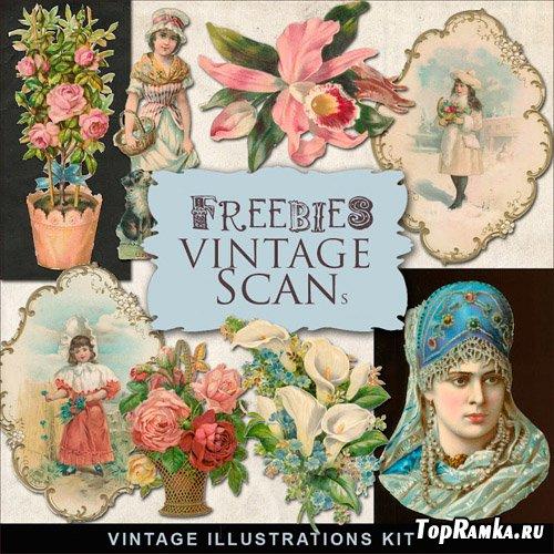 Scrap-kit - Vintage Illustrations 2