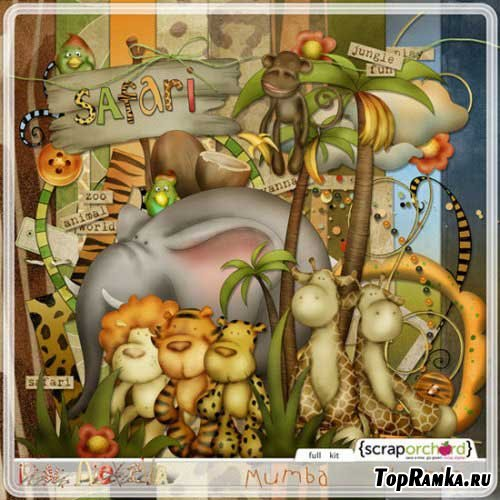 Детский скрап-набор - Сафари. Scrap - Safari
