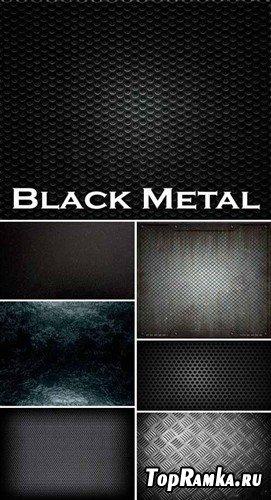 Набор различных высококачественных фонов черного металла