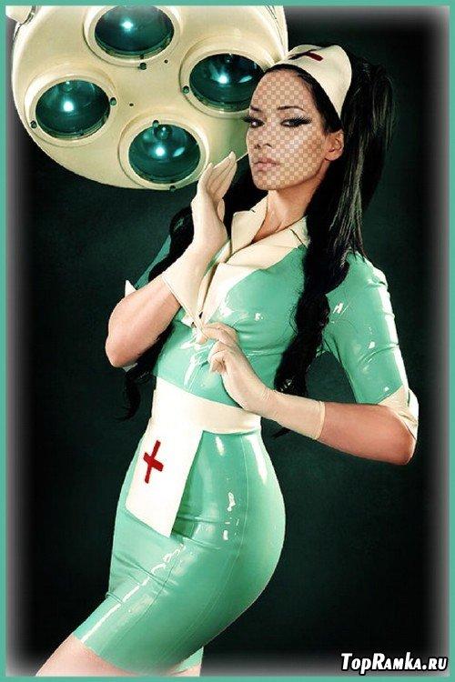 Шаблон для фотошопа - Старшая медсестра