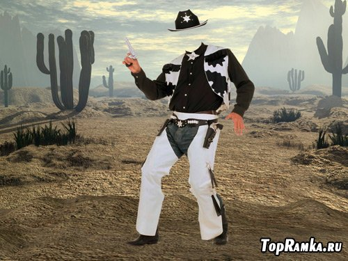 Шаблон для фотошопа – Веселый шериф