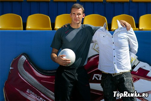 Шаблон мужской - фото с футболистом Шевченко
