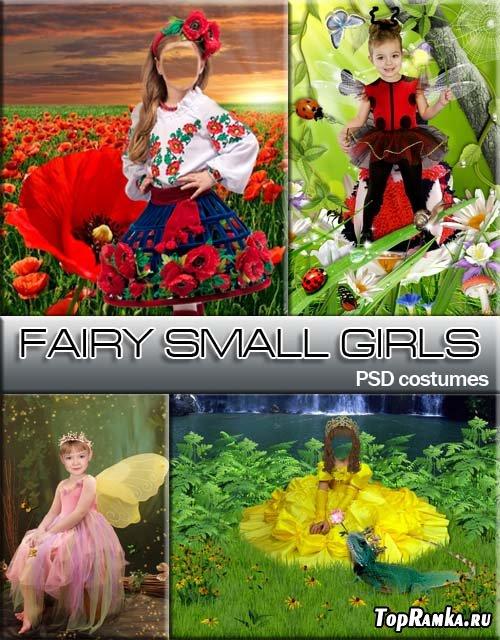 Волшебные платья для девочки (шаблон для фотошоп)