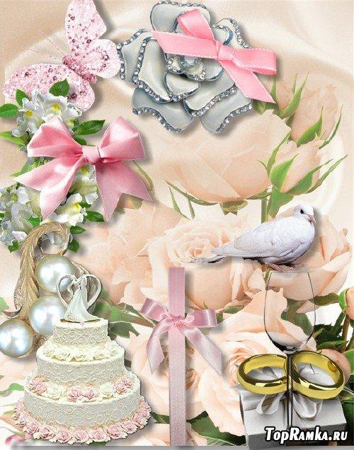 Скрап-набор - Свадебная романтика