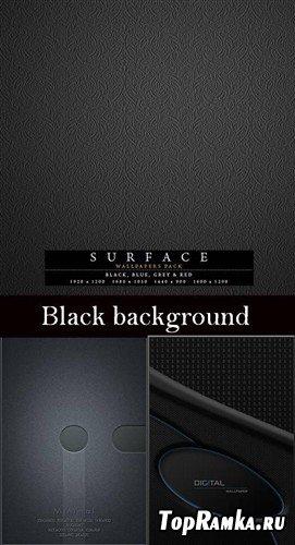 Коллекция черных фонов в стиле цифровых технологий