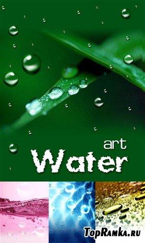 Набор многослойных PSD в виде капель воды