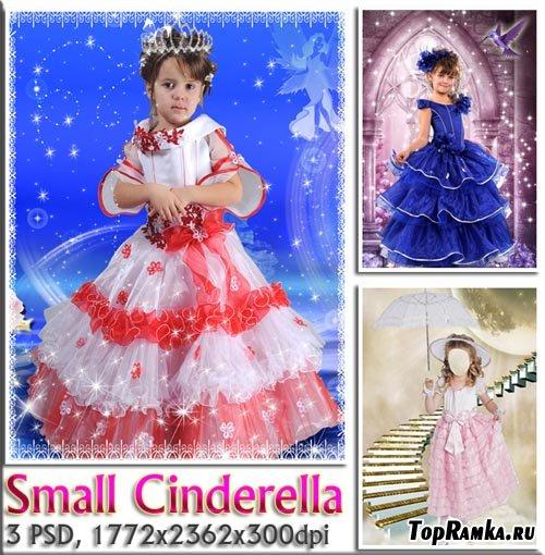 Наряднное бальное платье маленькой принцессы (шаблон)
