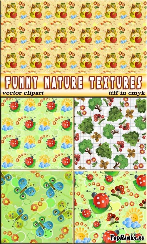 Веселые подложки природа (вектор и растр)