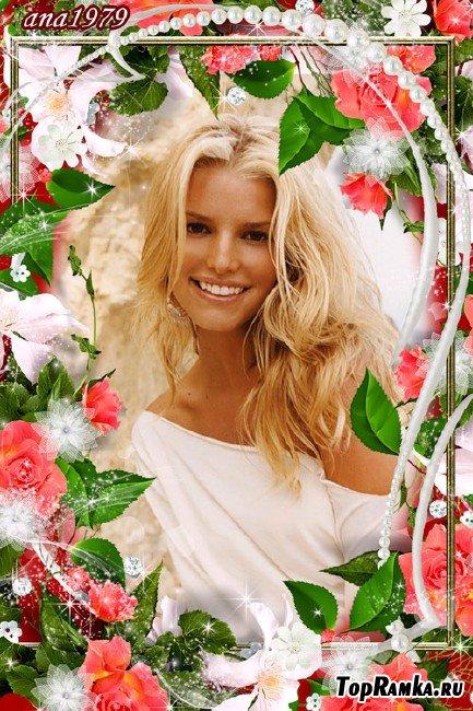 Рамка для фотошопа – Цветы и красота