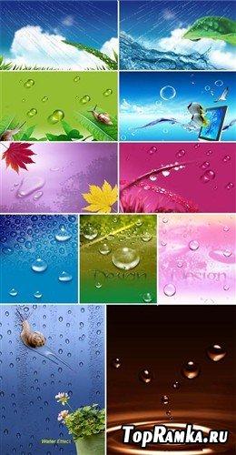 Водяные эффекты - коллекция многослойных PSD