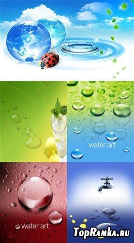 Водный мир - сборник экологических многослойных PSD
