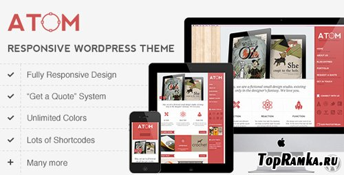 ThemeForest - Atom v1.1 - A Design Studio Full Resposive WordPress - Retail