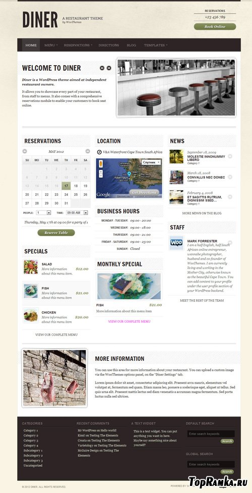 WooThemes - Diner v1.9.3 for WordPress