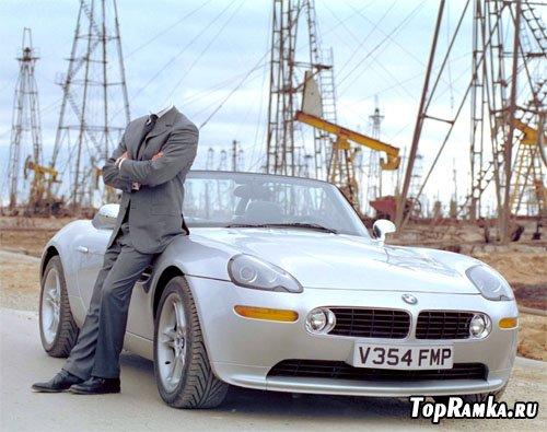 Шаблон мужской - с BMW кабриолет