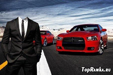 Мужской шаблон для фотошопа - Любитель авто