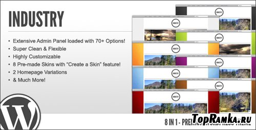 ThemeForest - WP Industry - 8 in 1 Premium Wordpress Theme