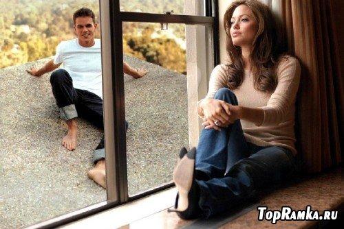 Рамочка для photoshop - О ком думает Анджелина Джоли