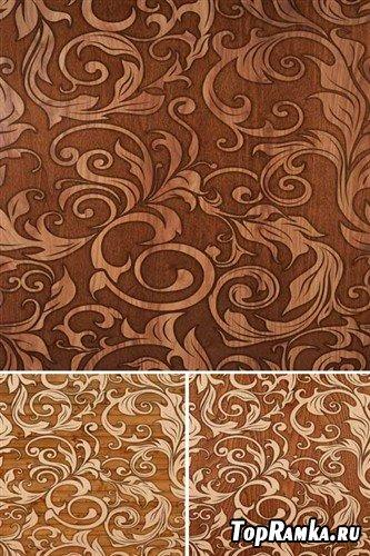 Узоры на деревянной поверхности - фоны