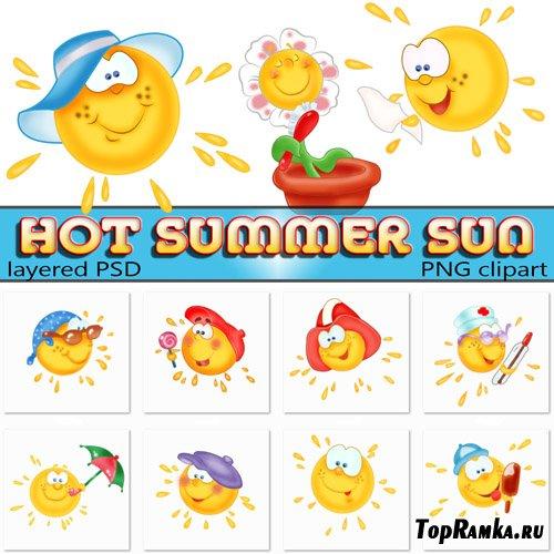 Графические изображения - горячее солнышко (psd clipart)