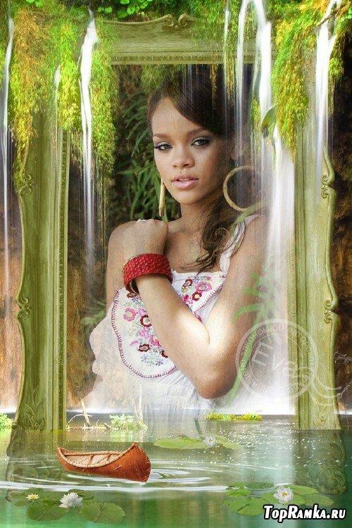 Рамка для photoshop - Красивый водопад