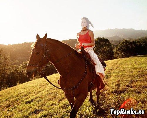 Шаблон - верхом на лошади