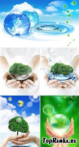 Сохраним Природу - экологические многослойные PSD