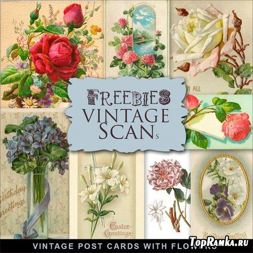 Scrap-Kit Vintage Post Cards The Buatiful Illustrations