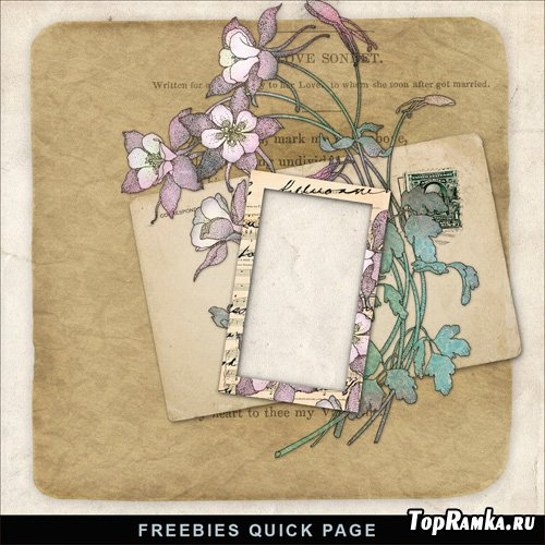Scrap-Kit book and flower illustration