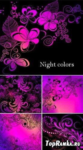 Ночные цветы - фоны