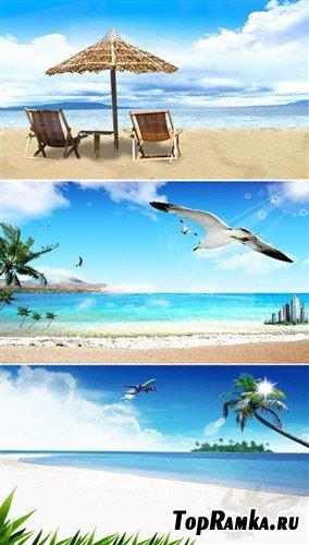 Набор пляжных многослойных  PSD