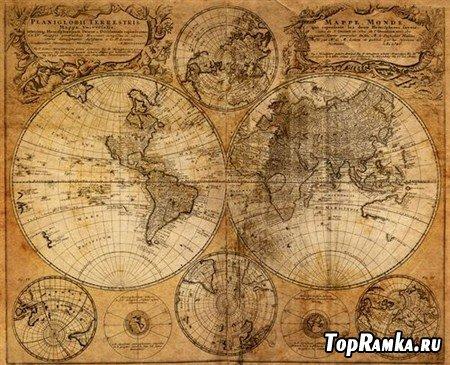 Клипарты морских карт