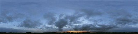 Панорамы заката солнца в замечательных растровых клипартах