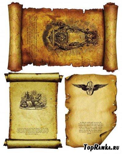 Три древних свитка (многослойные PSD)