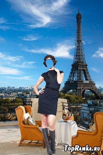 Шаблон для фотошопа – Француженка
