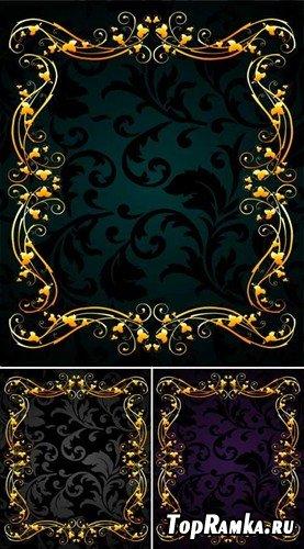 Набор декоративных трехцветных фонов