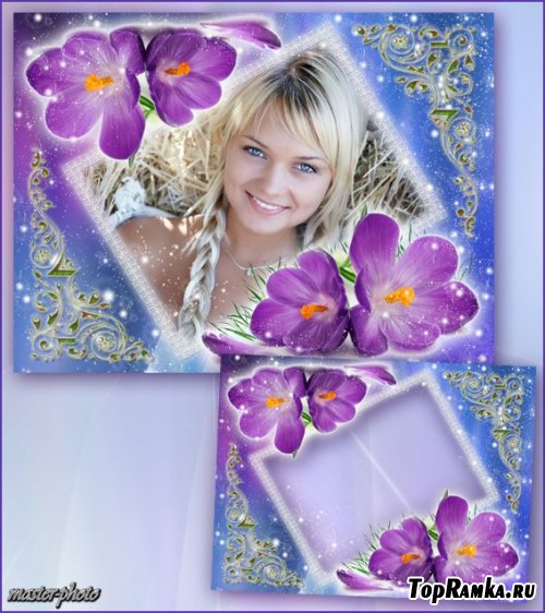Цветочная рамка для фотошопа – Перепутанные взгляды