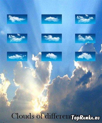 Большая коллекция многослойных PSD в виде облаков различных видов