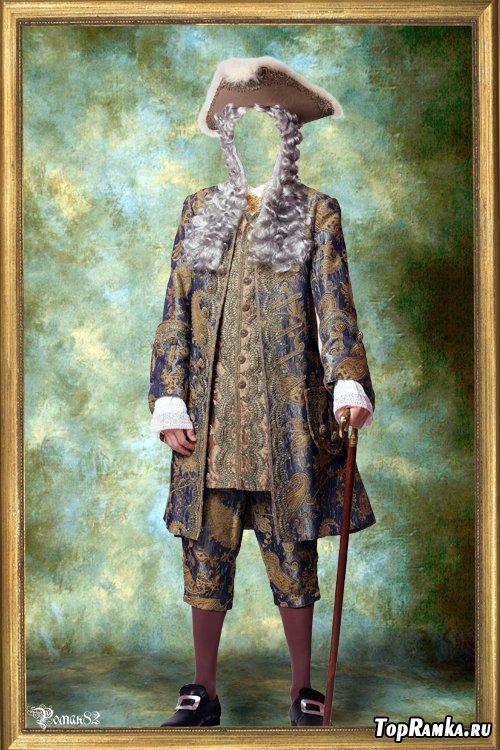 Шаблон для фотомонтажа - старинный костюм 58