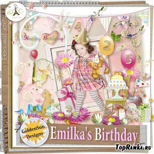 Детский скрап-набор - День рождения Эмиля