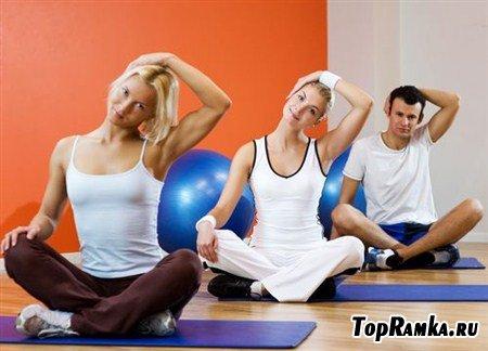 Фитнес и гибкость в замечательных растровых клипартах