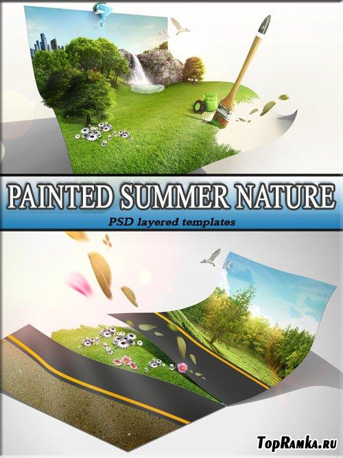Рисунки многогранной не тронутой красоты природы (фотошоп)
