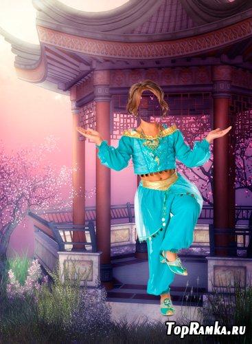 Шаблон для фотошопа – Восточный танец