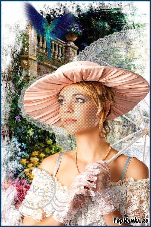 Женский шаблон для фотошопа - Райский сад