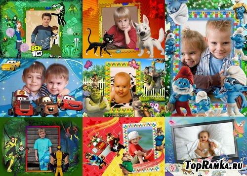 Сборник детских рамок для мальчиков