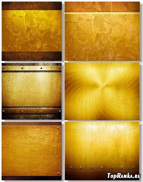 Клипарт - Золотистые металлические текстуры