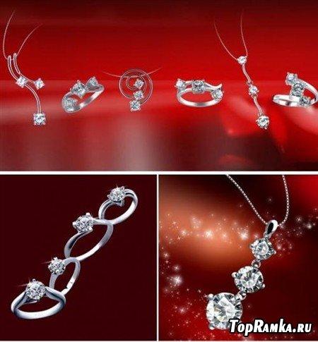 Бриллианты для любимых (многослойные PSD)