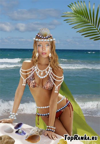 Шаблон Морская царевна