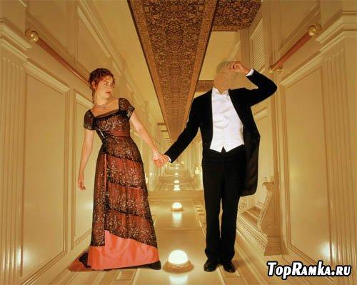 Шаблон мужской - прогулка по Титанику